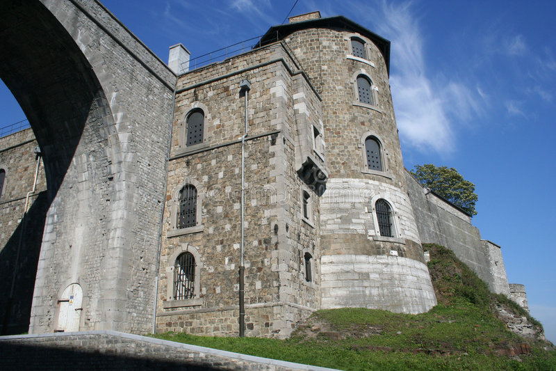 Fortificazione di Namur (cittadella), Belgio fotografia stock libera da diritti