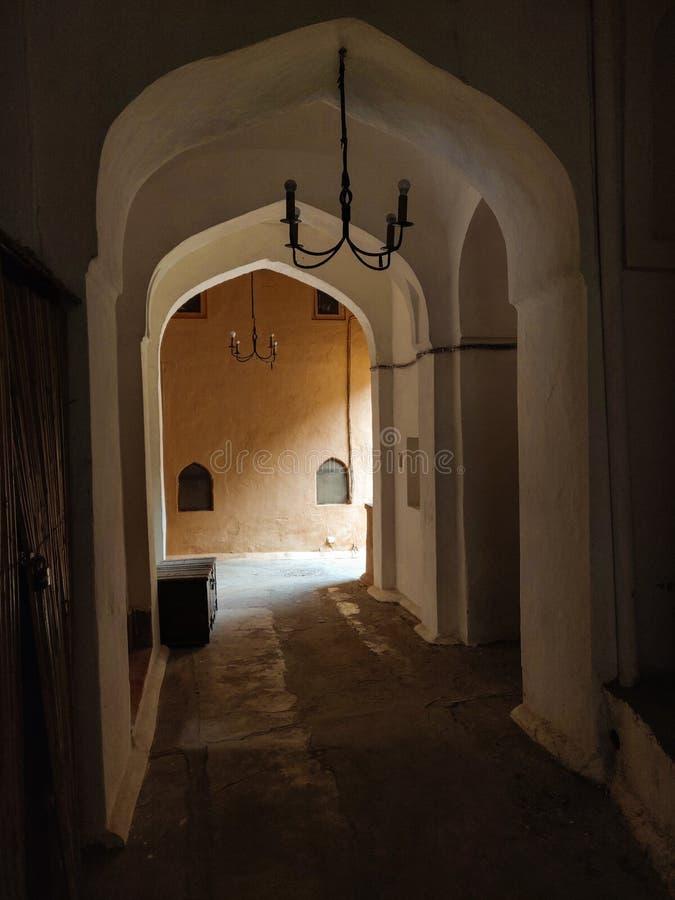 Fortificazione di Neemrana, Jaipur, Ragiastan, India fotografia stock libera da diritti
