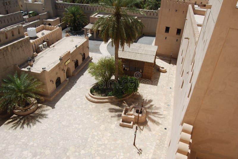 Fortificazione di Nizwra, Oman fotografie stock libere da diritti