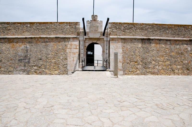 Fortificazione di Ponta da Bandeira - Lagos - Portogallo fotografia stock libera da diritti
