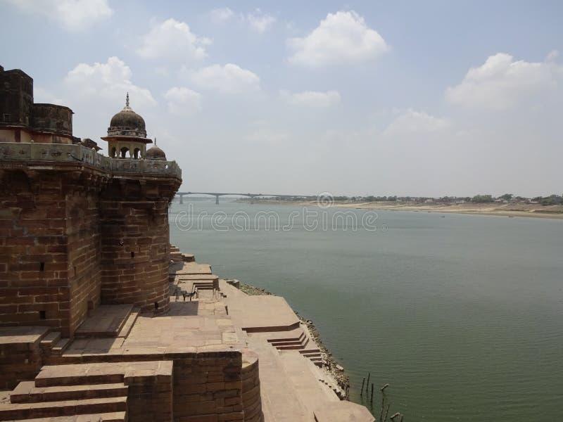 Fortificazione di Ramnagar, Varanasi fotografia stock