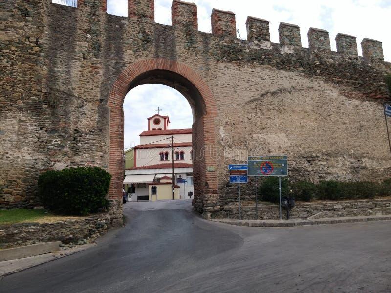 Fortificazione di Salonicco fotografia stock