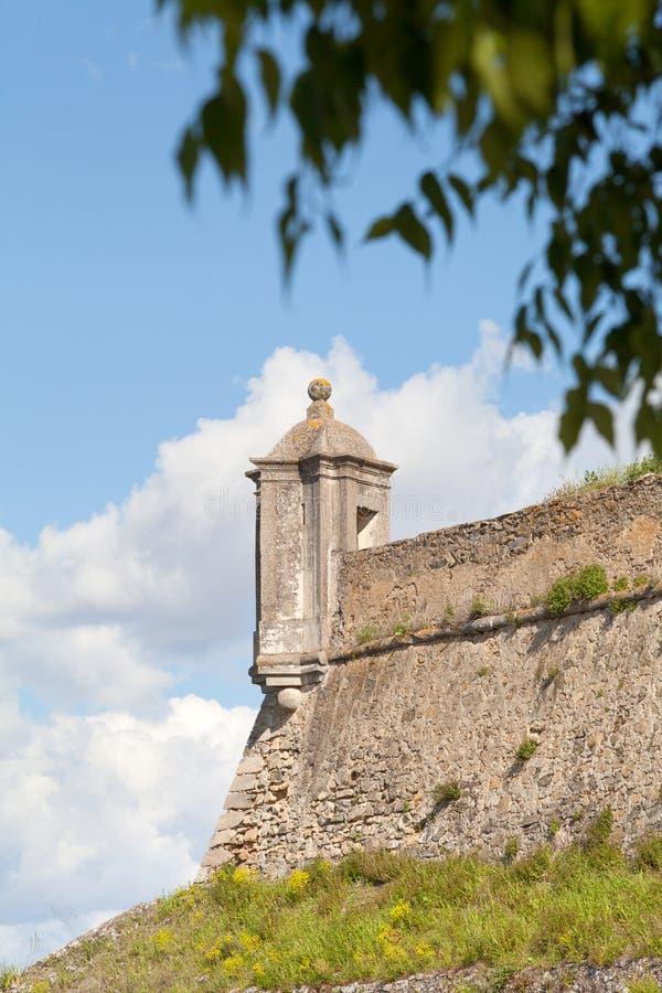 Fortificazione di Santa Luzia, Elvas, Portalegre, Portogallo fotografie stock libere da diritti
