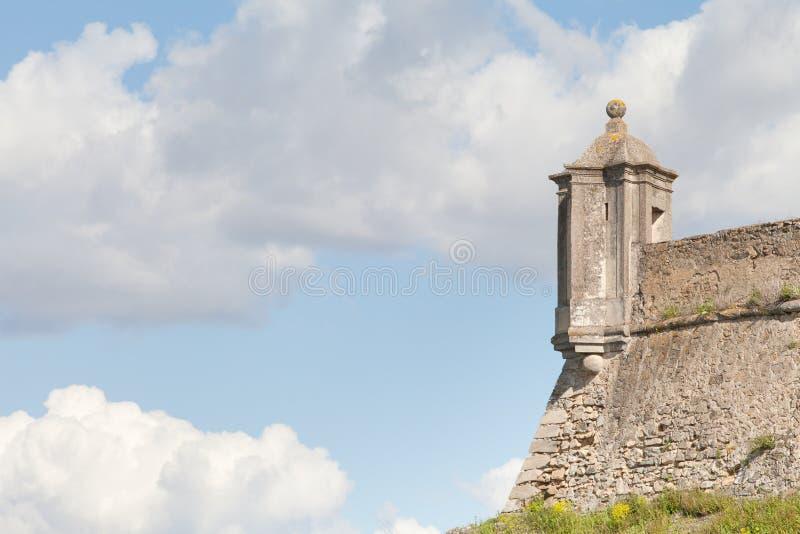 Fortificazione di Santa Luzia, Elvas, Portalegre, Portogallo fotografia stock libera da diritti