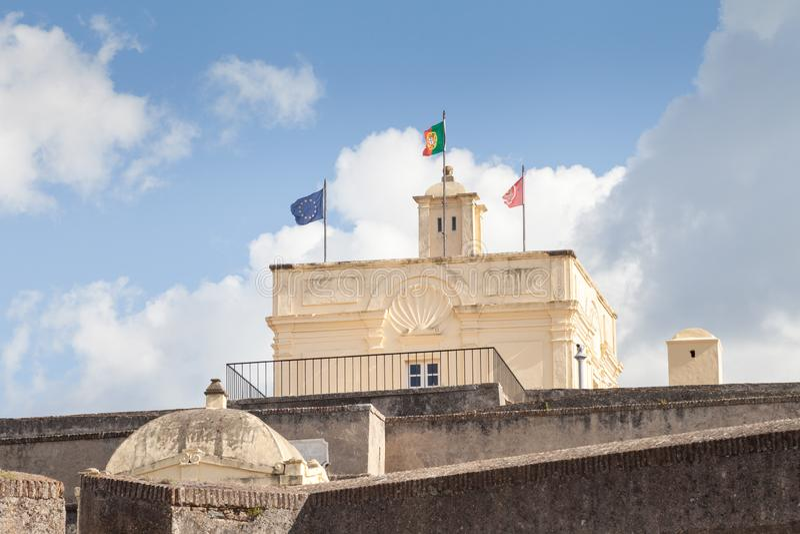 Fortificazione di Santa Luzia, Elvas, Portalegre, Portogallo fotografia stock
