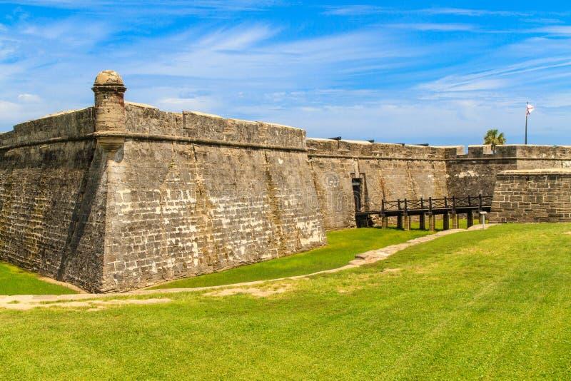 Fortificazione di St Augustine, Castillo de San Marcos immagini stock
