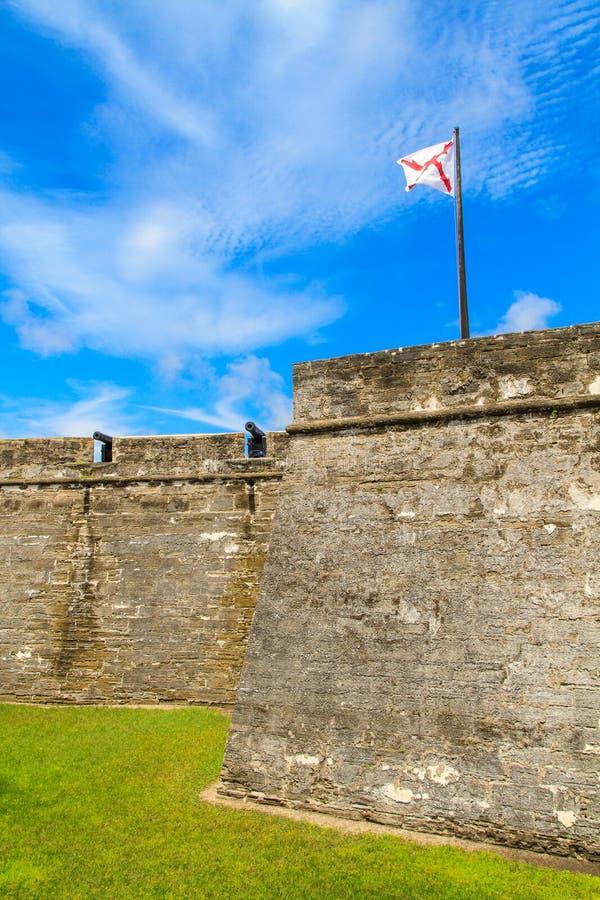 Fortificazione di St Augustine, monumento nazionale di Castillo de San Marcos fotografie stock