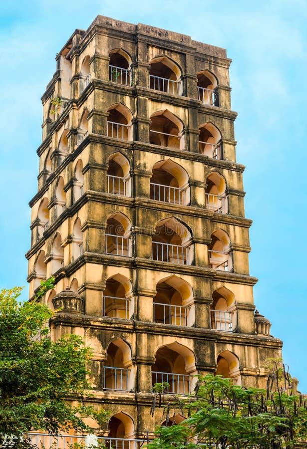 Fortificazione di Vijaynagara del monumento storico prominente Nayak di Tanjore fotografia stock