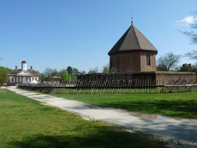 Fortificazione di Williamsburg immagine stock