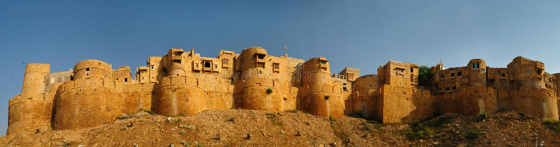 Fortificazione dorata di Jaisalmer fotografie stock