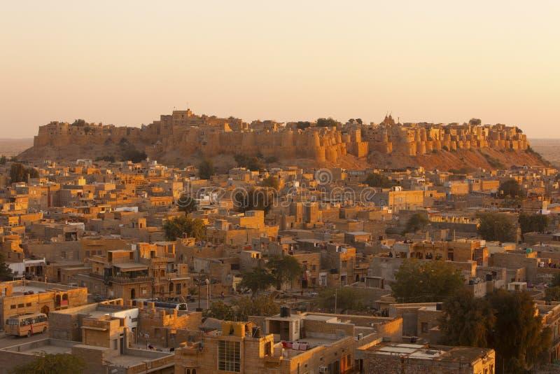 Fortificazione dorata di Jaisalmer. immagini stock libere da diritti