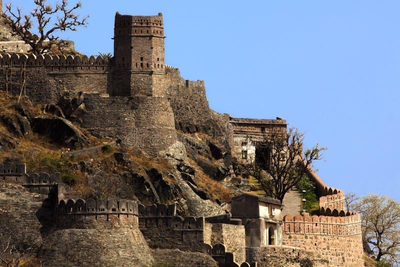 Fortificazione India di Kumbhalgarh fotografia stock libera da diritti