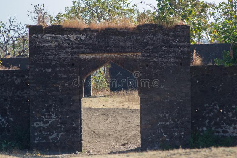 Fortificazione Indore di Kajligarh fotografie stock