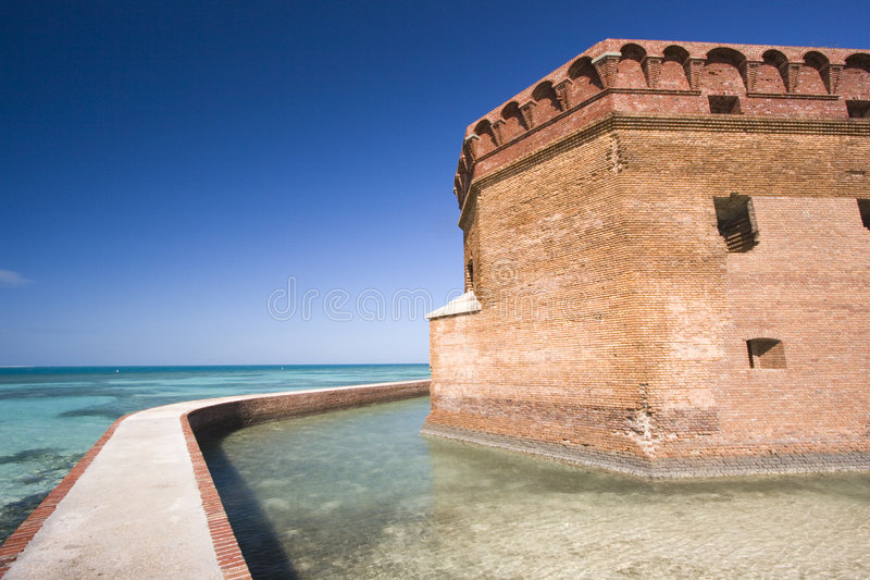 Fortificazione Jefferson - sosta nazionale asciutta di Tortugas. immagini stock libere da diritti
