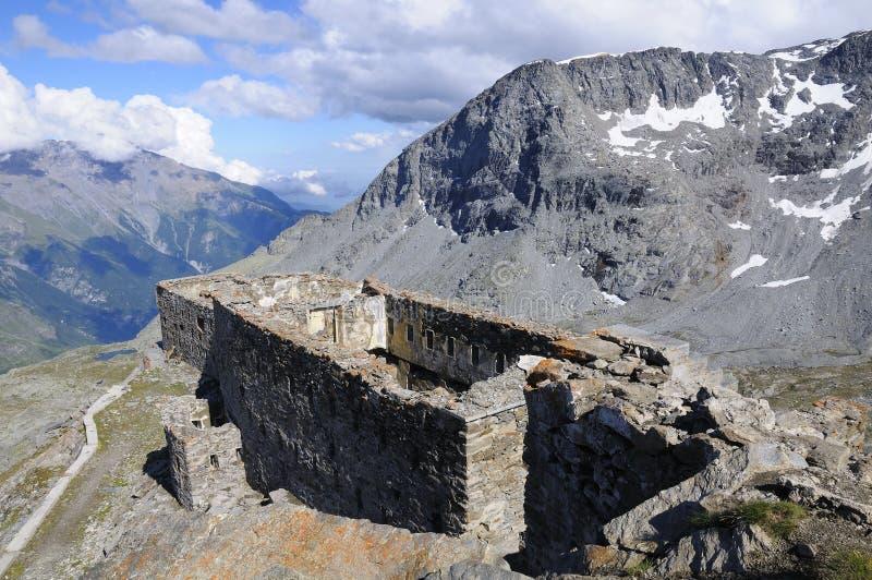 Fortificazione Malamot - Mont Cenis fotografia stock