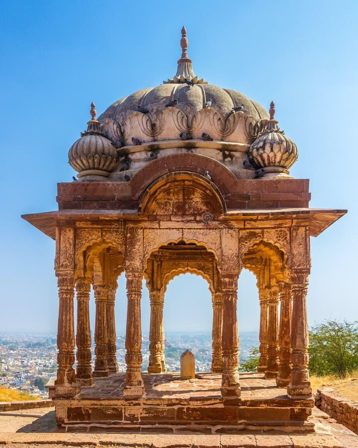 Fortificazione Mandapa di Mehrangarh immagine stock