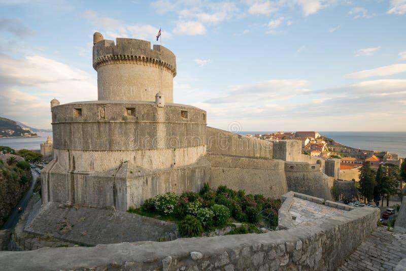 Fortificazione Minceta, Dubrovnik fotografia stock libera da diritti