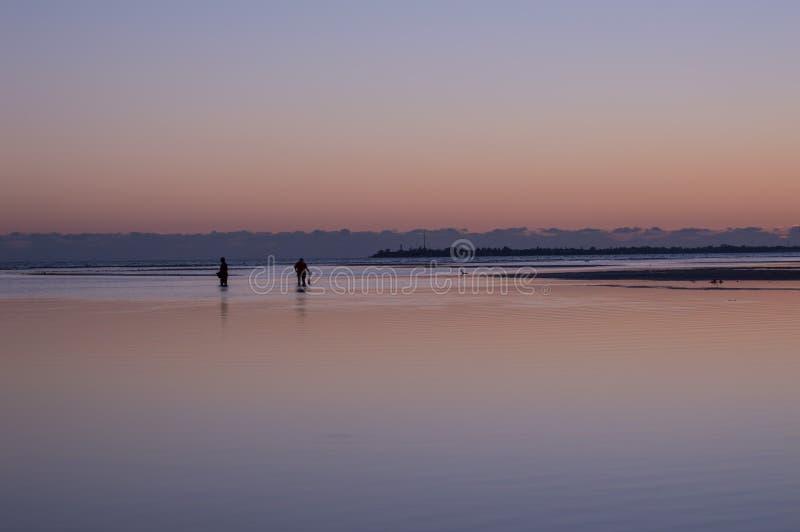 Fortificazione Myers Florida di tramonto della spiaggia di Bunche fotografie stock