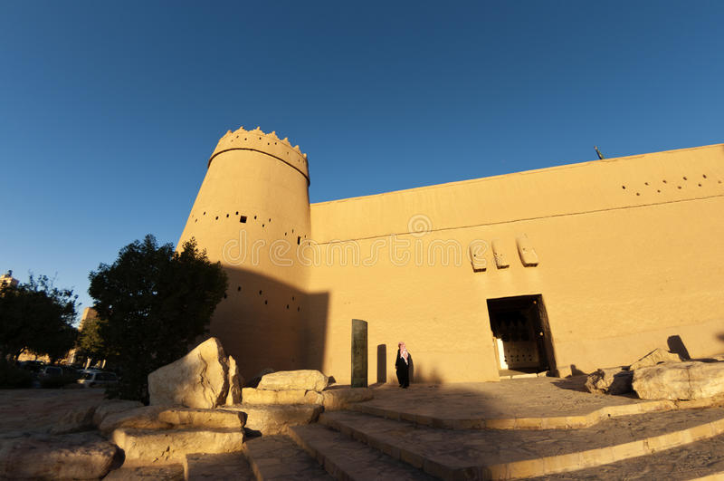 Fortificazione nella città di Riyadh, Arabia Saudita di Masmak di Al immagine stock