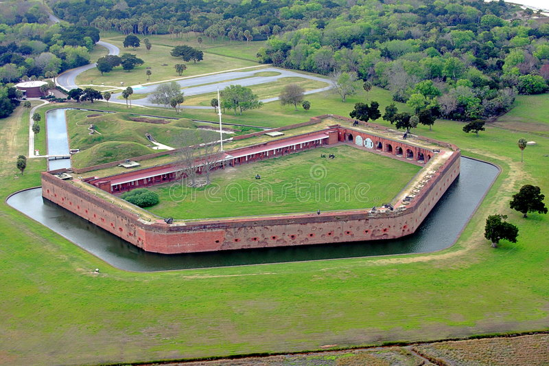 Fortificazione Pulaski immagini stock