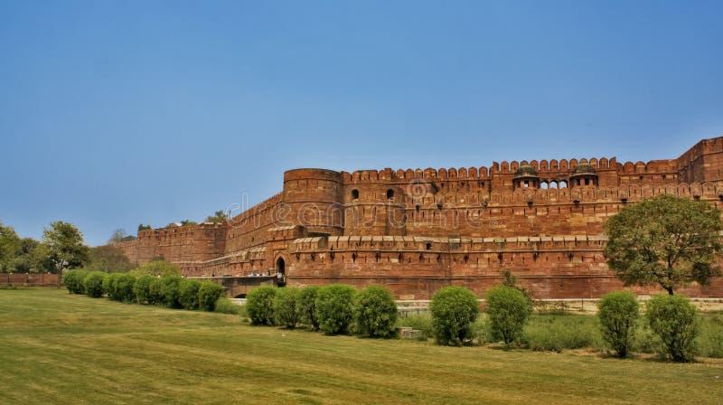 Fortificazione rossa a Agra, India immagini stock