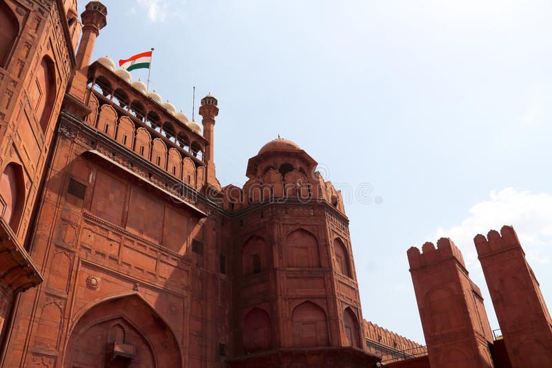 Fortificazione rossa a Delhi fotografie stock libere da diritti