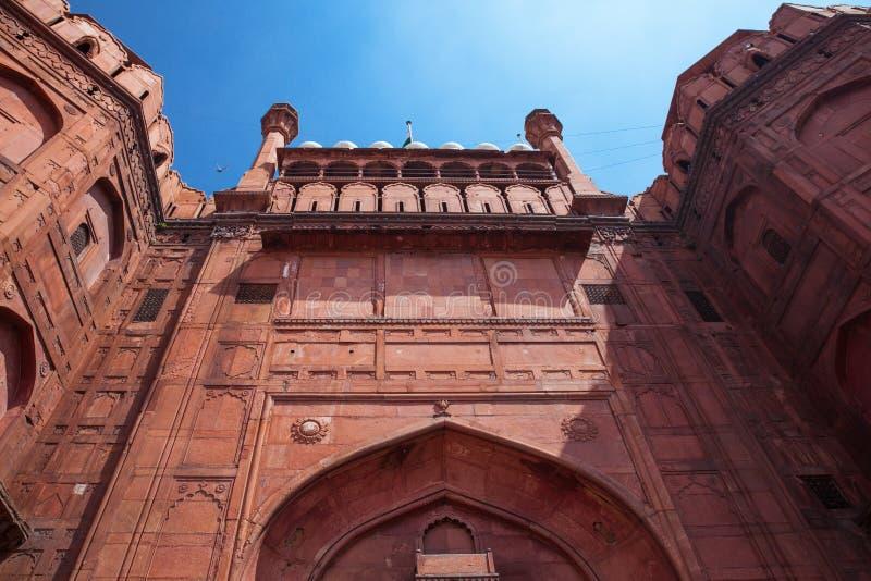 Fortificazione rossa a Delhi, India immagini stock
