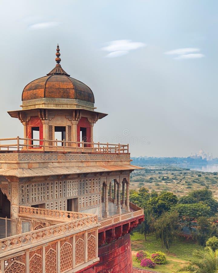 Fortificazione rossa di Agra, India, Uttar Pradesh fotografie stock libere da diritti