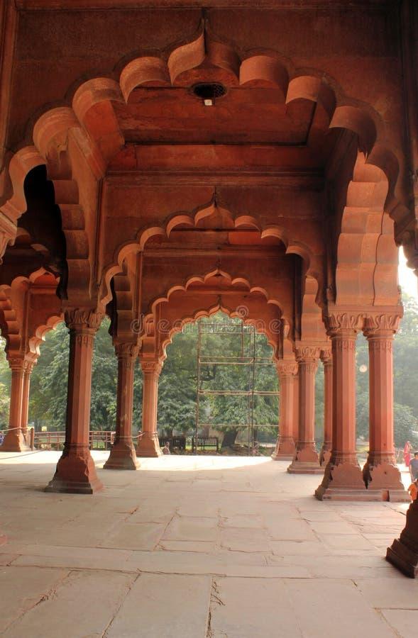 Fortificazione rossa di Delhi, dettaglio architettonico fotografia stock