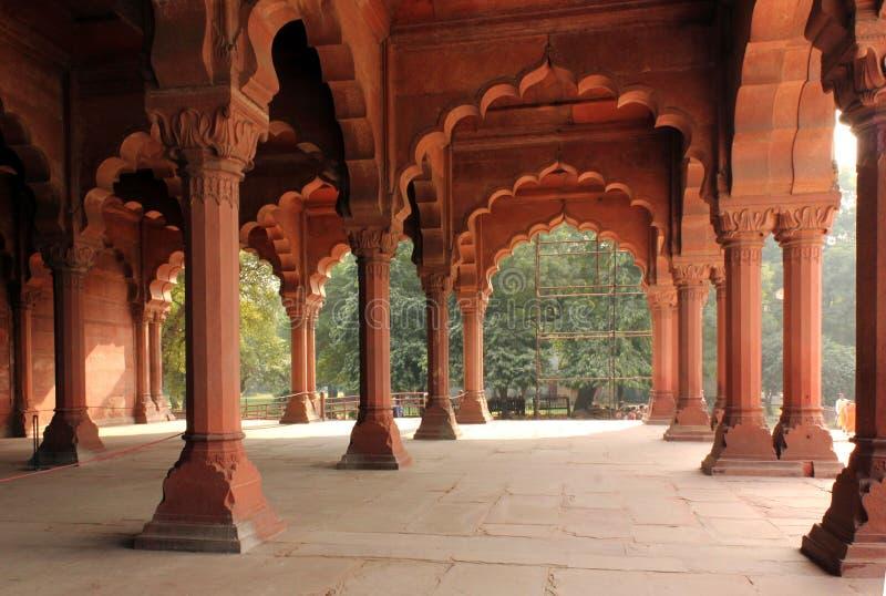 Fortificazione rossa di Delhi, dettaglio architettonico immagini stock