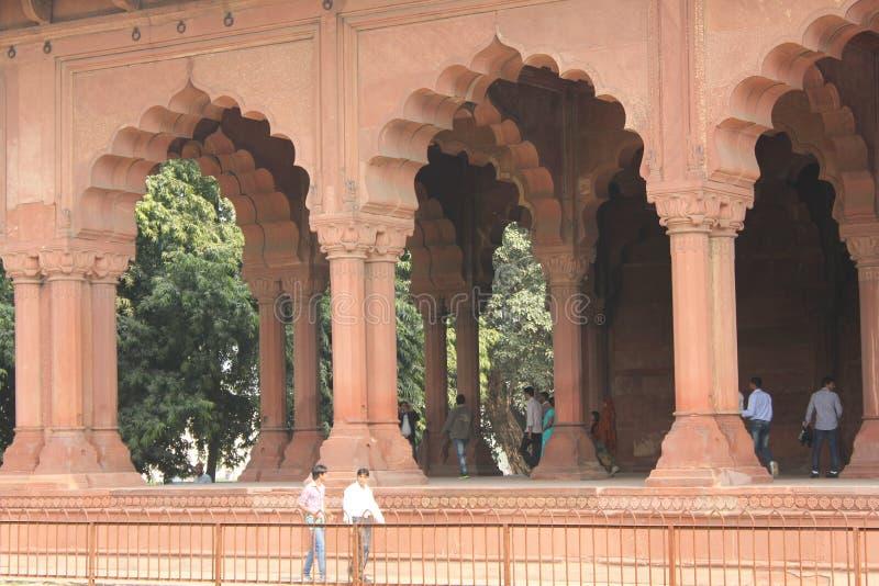 Fortificazione rossa di Delhi, dettaglio architettonico fotografia stock libera da diritti