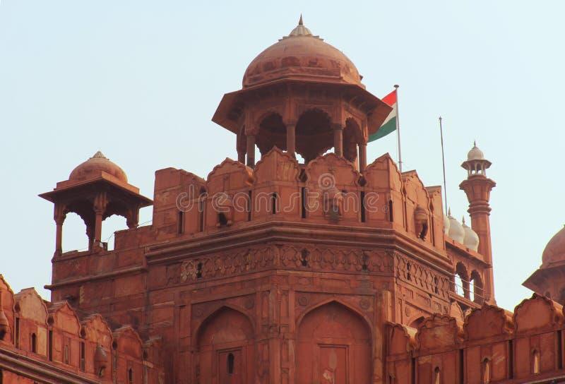 Fortificazione rossa di Delhi, dettaglio della torre immagine stock libera da diritti
