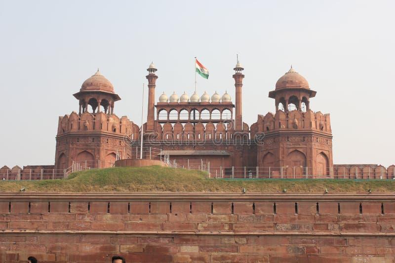 Fortificazione rossa di Delhi, vista dall'esterno fotografia stock libera da diritti