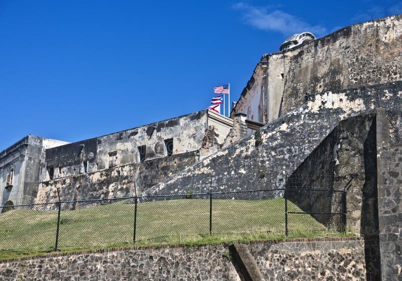 Fortificazione San Cristobal, San Juan, Porto Rico immagini stock
