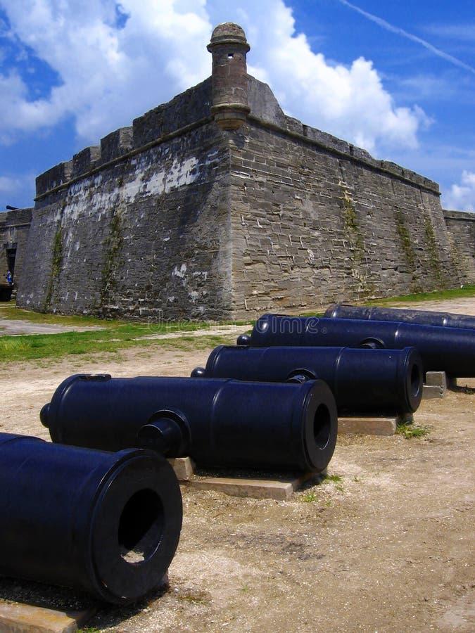 Fortificazione, San de Marco, st Augustine, Florida, Stati Uniti fotografie stock libere da diritti