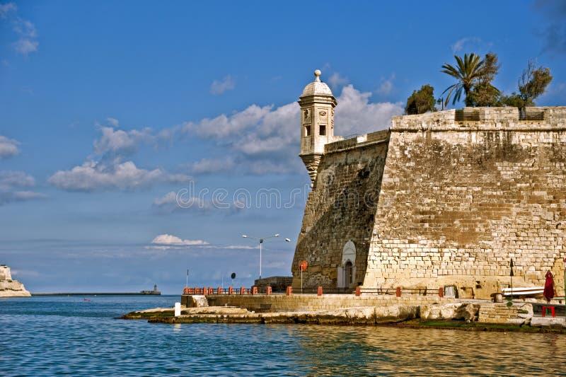 Fortificazione St.Angelo, Malta immagine stock