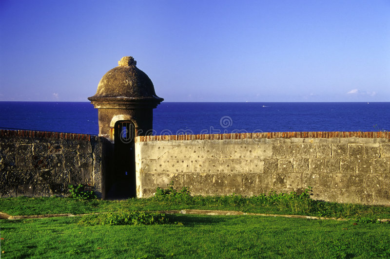 Fortificazione, vecchio San Juan fotografia stock