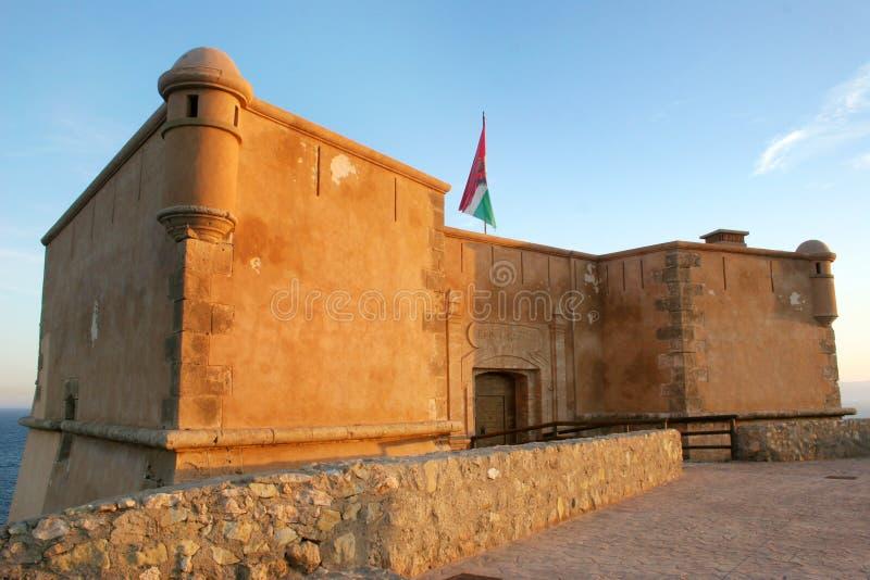 Fortifichi, San Juan de los Terreros, spagna, Andalusia, Almeria fotografia stock libera da diritti