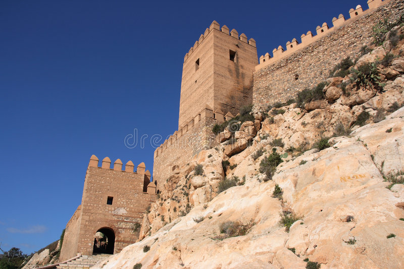 Fortified castle royalty free stock images