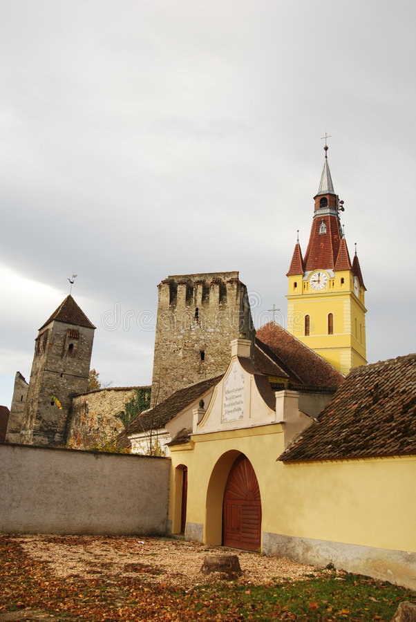 Download Fortified Church In Transylvania Stock Photo - Image of build, dark: 6957628