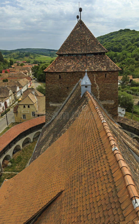 Fortified church from Valea Viilor royalty free stock photo