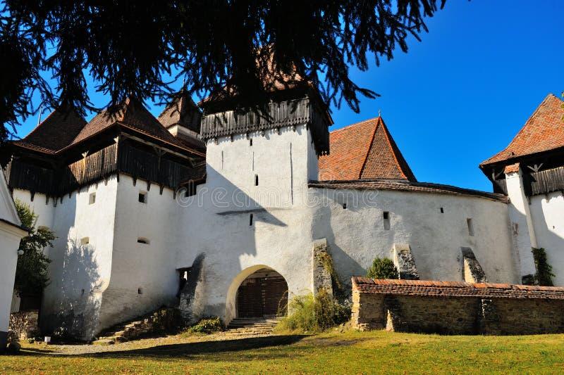 Fortified church at Viscri village royalty free stock photos