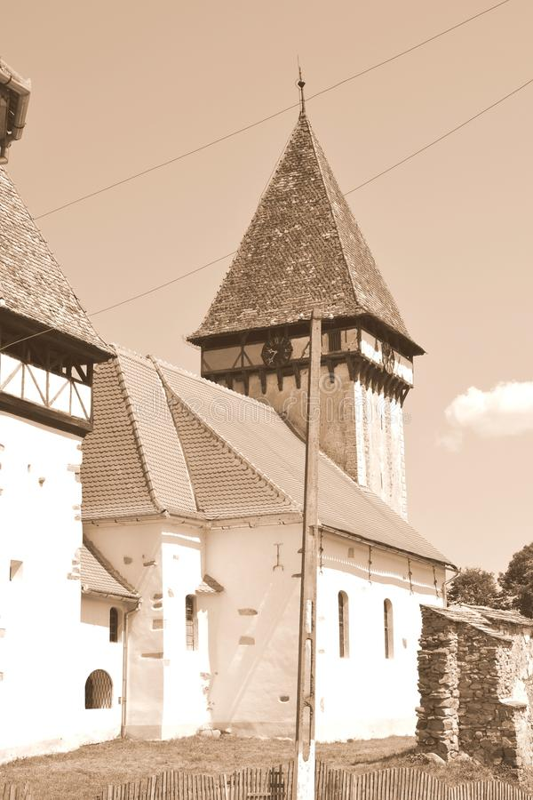 Fortified evanghelic medieval saxon church in Veseud, Zied, is a village in the commune Chirpăr from Sibiu County. Veseud, Zied, a village in the commune stock images