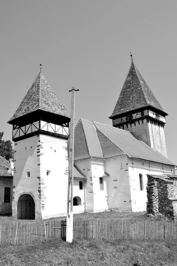 Fortified evanghelic medieval saxon church in Veseud, Zied, is a village in the commune Chirpăr from Sibiu County. Veseud, Zied, a village in the commune stock photography