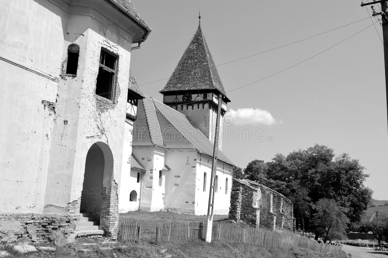Fortified evanghelic medieval saxon church in Veseud, Zied, is a village in the commune Chirpăr from Sibiu County. Veseud, Zied, a village in the commune stock photos