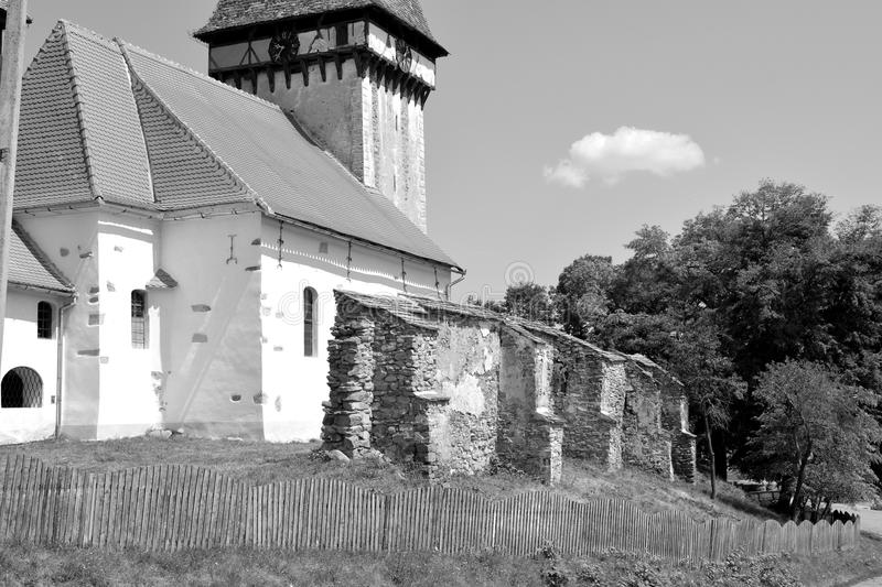 Fortified medieval saxon church in Veseud, Zied, is a village in the commune Chirpăr from Sibiu County. Veseud, Zied, a village in the commune Chirpăr from royalty free stock images