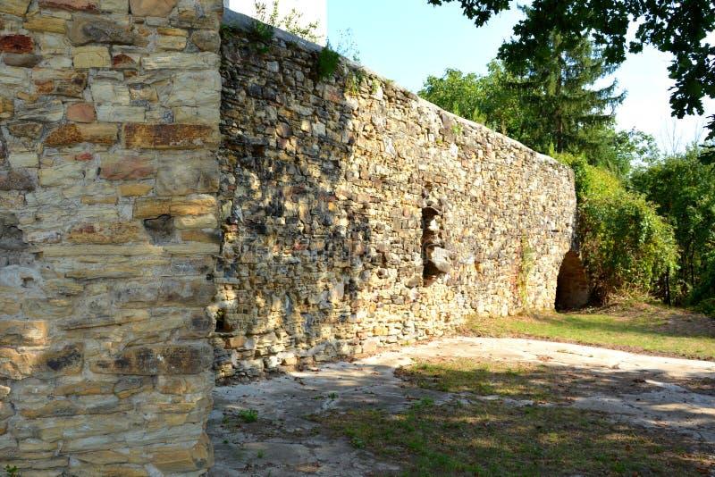Fortified medieval saxon evangelic church in the village TicuÅŸu Vechi, Deutsch-Tekes, royalty free stock photos