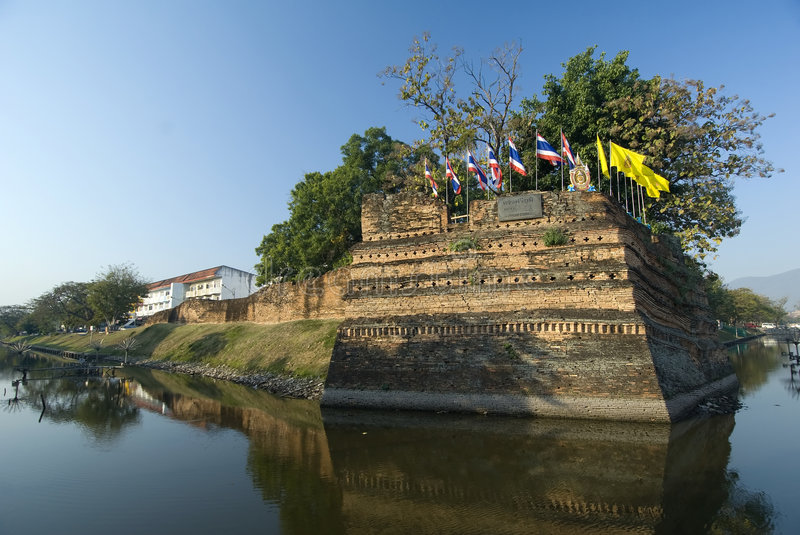 Download The Fortified Walls Of Chiang Mai, Thailand Stock Image - Image: 7660511
