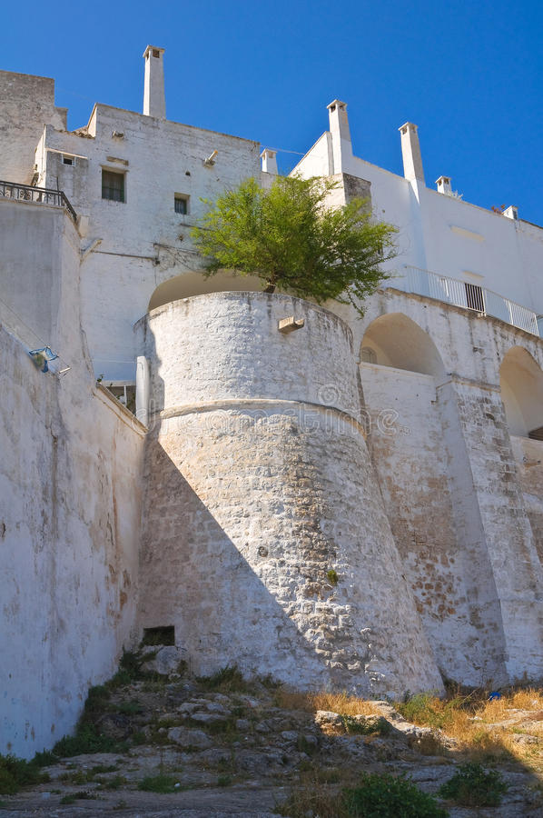 Fortified Walls. Ostuni. Puglia. Italy. Royalty Free Stock Image