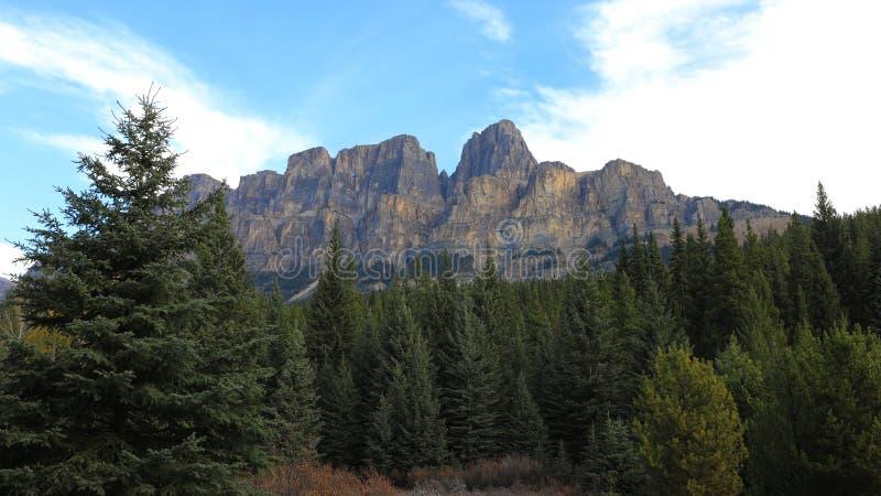 Fortifique o Mountain View no parque nacional de Banff, Canadá fotografia de stock royalty free
